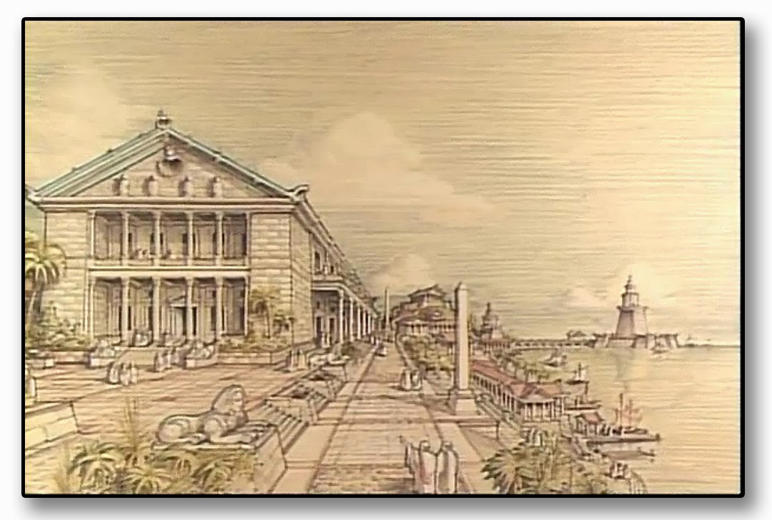 Biblioteca Alejandria. Representación.