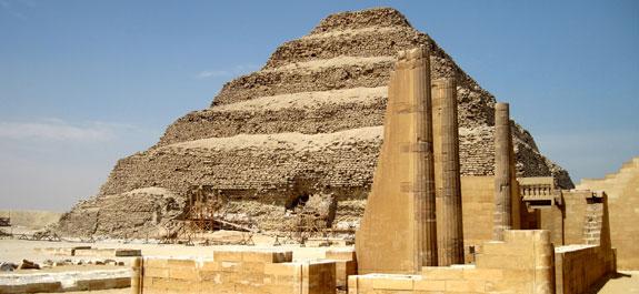 Pirámide escalonada.