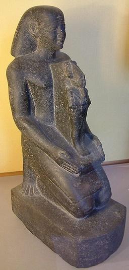 Estatua en honor a Psamético I