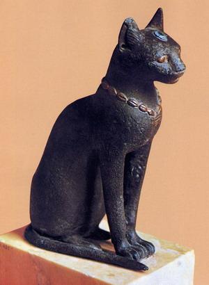 Estatua zoomorfa típica de la época saíta