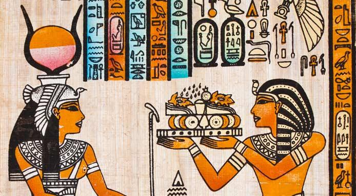 la alimentación en Egipto-