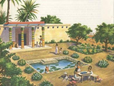 Egipto para niños: las casas
