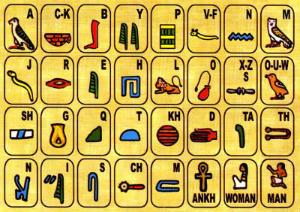 Egipto para niños alfabeto jeroglificos