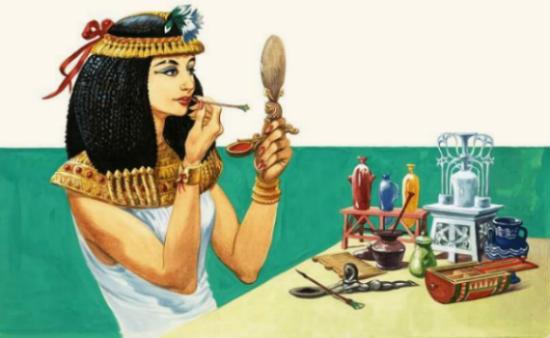 Egipto para niños el maquillaje