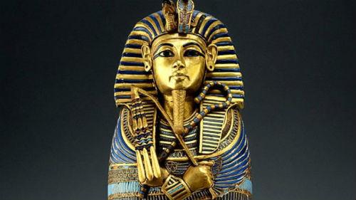 Egipto para niños el sarcofago de Tutankamon