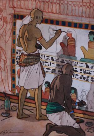 Egipto para niños pinturas de los antiguos egipcios