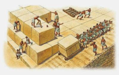 la construccion de las piramides